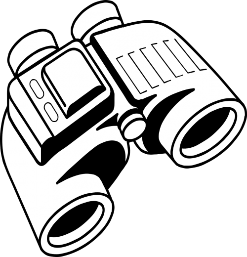 binoculars spy visual looking
