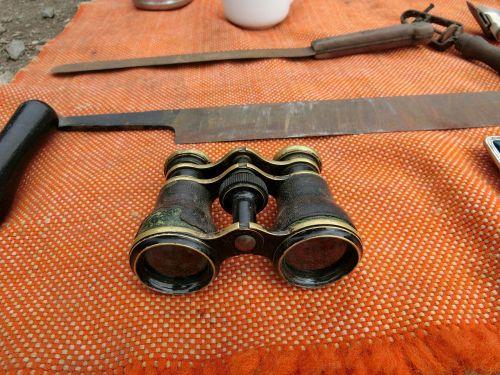 binoculars junk antique
