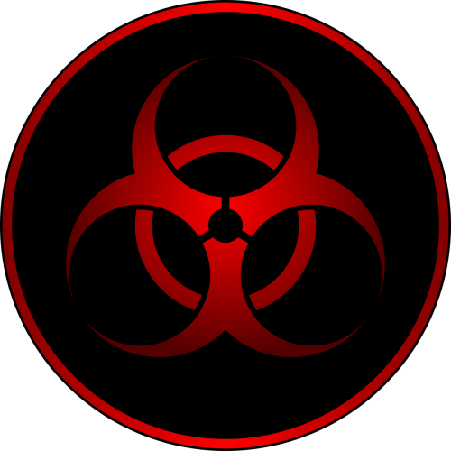 biohazard red sign