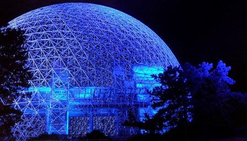 biosphere  night  sphere
