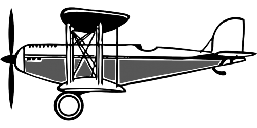 biplane old propeller