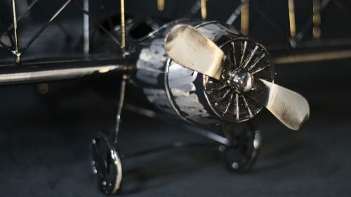 biplane airplane model