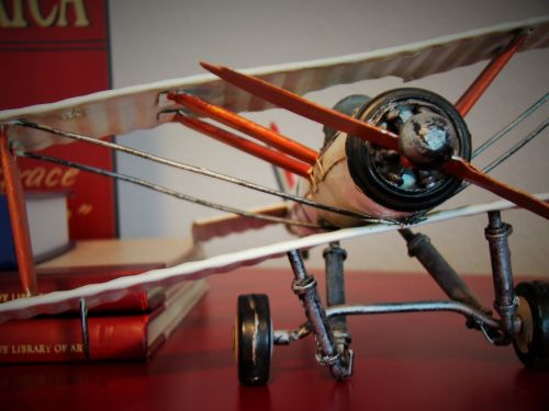 biplane toy aircraft