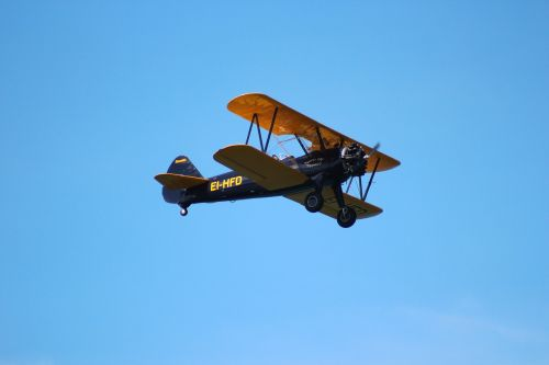 biplane aircraft airshow display