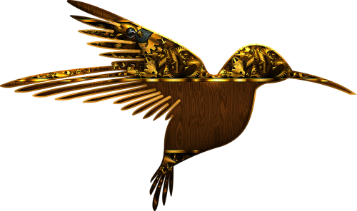 bird beautiful gothic design