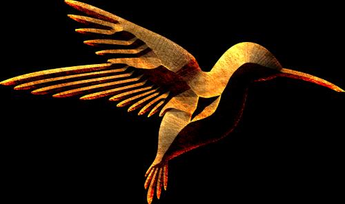 bird wild flying gothic styling