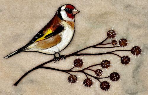 bird image marble