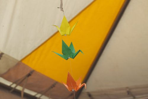 bird origami decoration