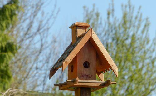 bird feeder nest roof