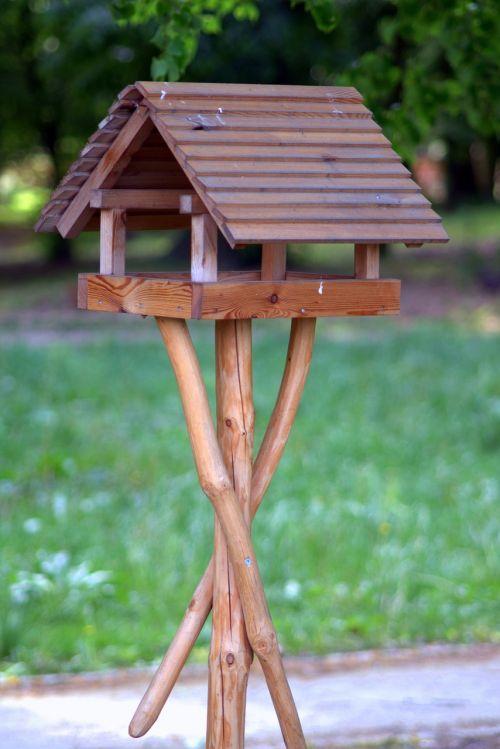 bird feeding tray shed wooden