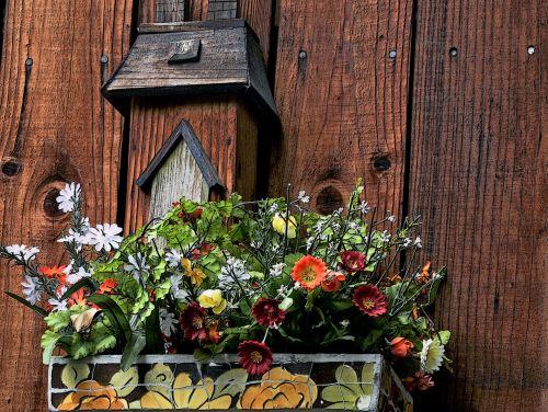 Bird House And  Flower Box