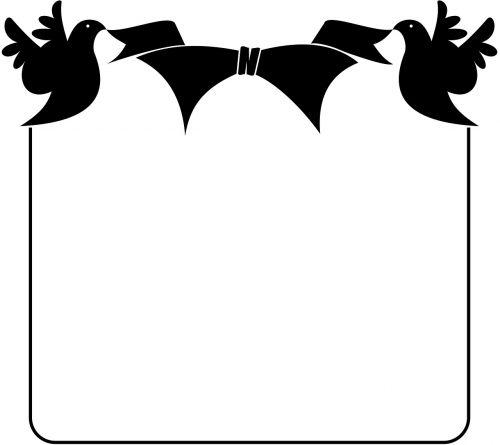 birds black border frame