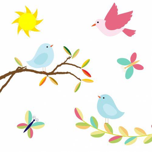Birds Clipart Illustration