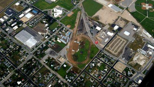 bird's eye view city aerial view