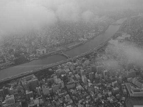 bird's eye view sumida river japan