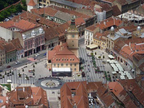 bird's eye view city brasov