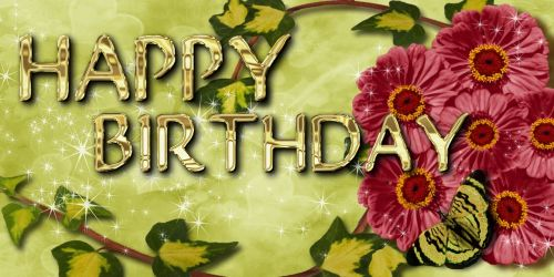 birthday greeting card flowers