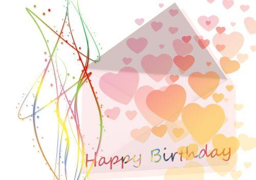 birthday greeting heart