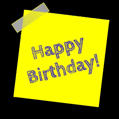 birthday happy birthday yellow
