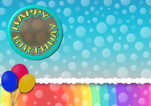 birthday balloons button