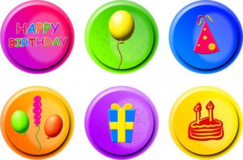 Birthday Buttons