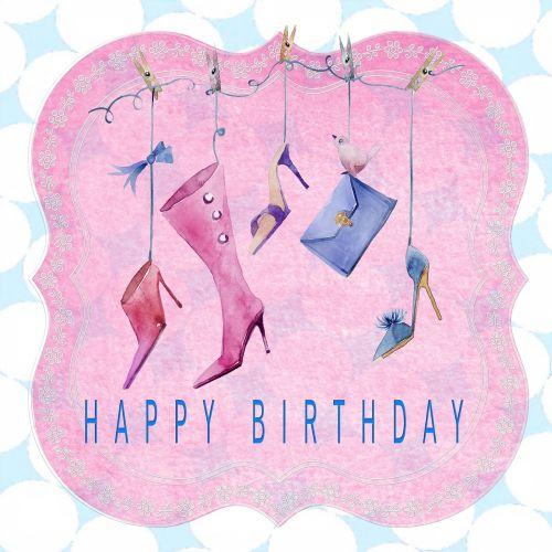 birthday card happy birthday lady