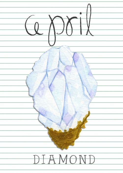 birthstone april diamond