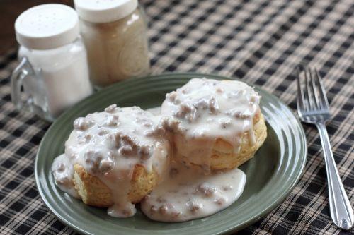 biscuits gravy breakfast