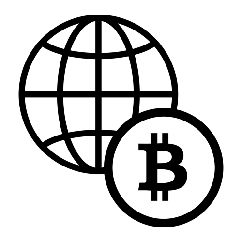 bitcoin icon black