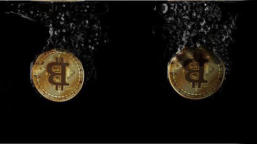 bitcoin cryptocurrency splash
