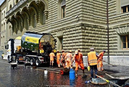 bitumen  asphalt  construction