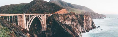 bixby bridge mountains land