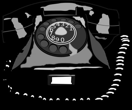 black cartoon rotary