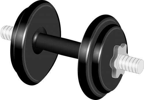 black dumbbell exercise