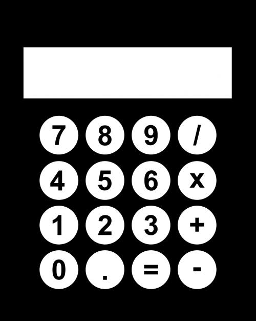 black calculator computer