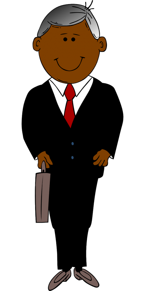 black briefcase man