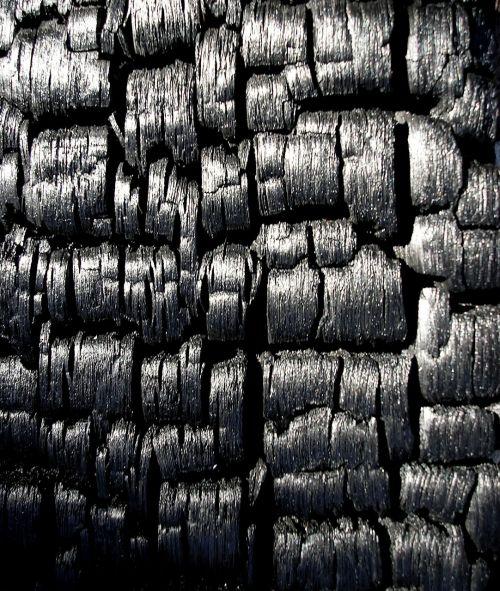 black charcoal burnt