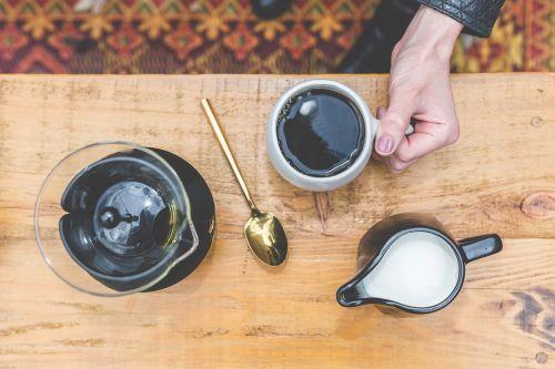 black brewed coffee
