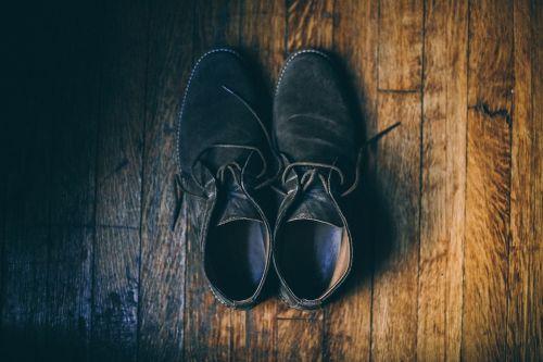 black shoe footwear
