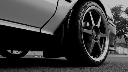 black white racing
