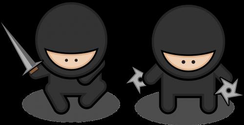black ninja swords