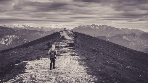 black  white  hiking
