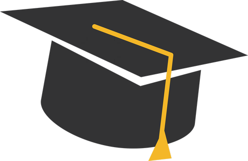 black  grad  hat