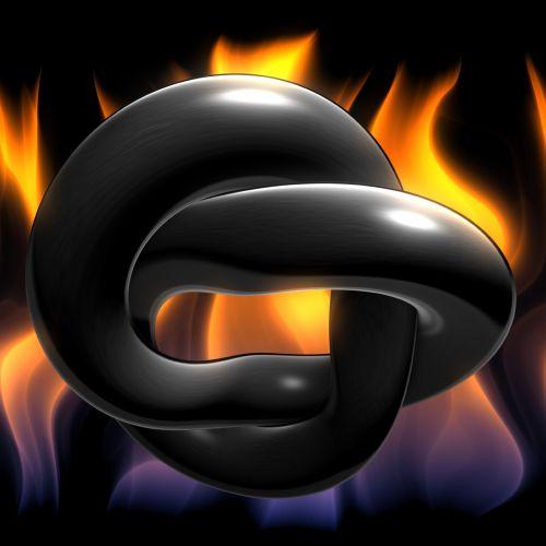 Black 3d Chain Links