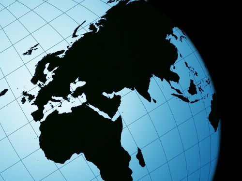 black geography globe