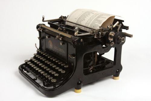 black typewriter old
