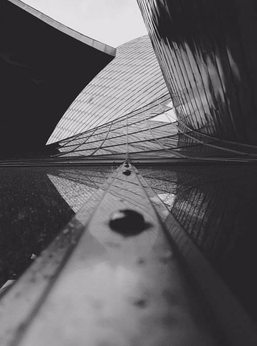 architecture black and white glass building