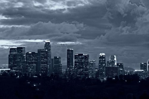black and white city los angeles