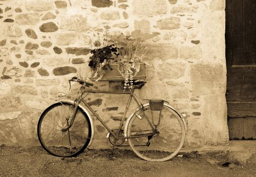 black and white bicycle unusual