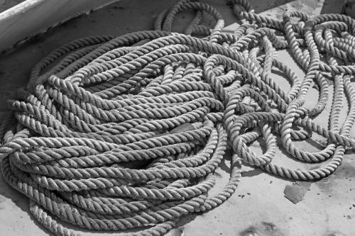 black and white rope marine